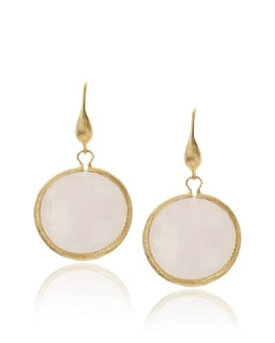 Rivka Friedman Rose Quartz Single Dangle Earrings