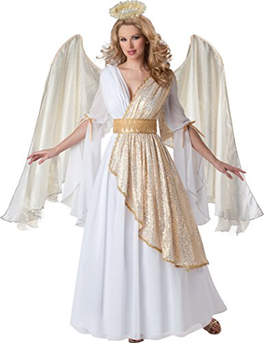 InCharacter Costumes Women's Heavenly Angel Costume, White/Gold, Large
