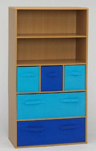 4D Concepts Boy'S Storage Bookcase, Beech front-516080