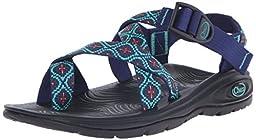 Chaco Women\'s Zvolv 2 Sport Sandal, Mosaic Cobalt, 8 M US
