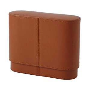 Andre Garcia Italian Brown Leather Hard Cigar Case 15ct