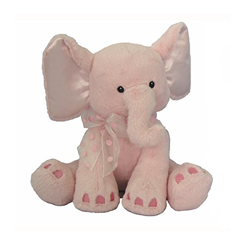 First & Main Plush Stuffed Elephant, Pink, 8""