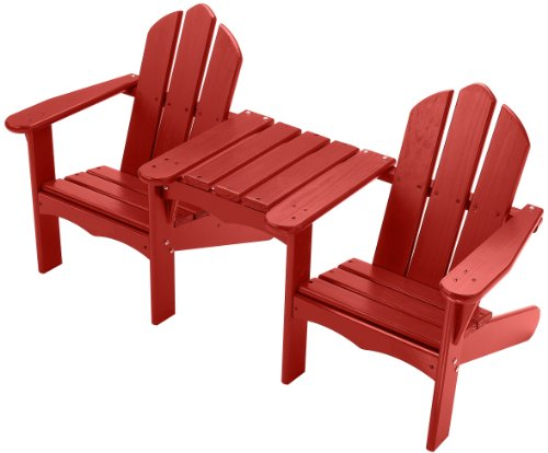 Little Colorado Child's Adirondack Tete-A-Tete Chair- Red