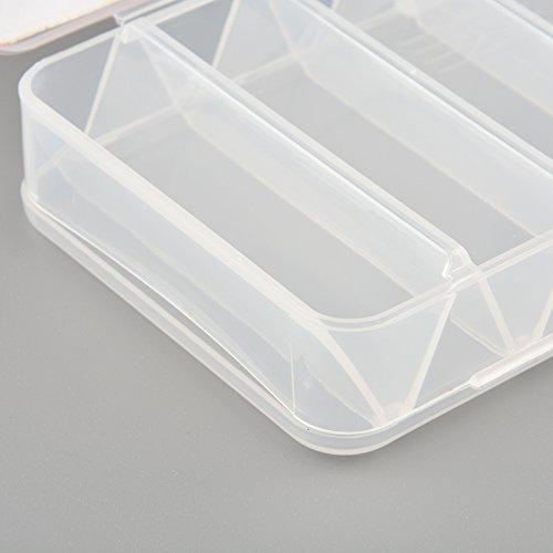 Fliegen-Fischen-Gerät-Kasten Storage Tool Angelköder Hard Cases 14 Fächer Doppelseitig Spinner Kunststoff Praktische Multifunktions-