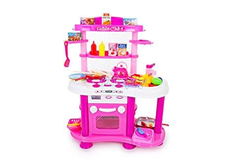 KP3518 - Spielzeugküche Spielküche Kinderküche Set mit Licht Sound Küchencenter