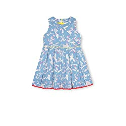 cherry crumble california Girls' Dress (WS-DRS-0146-3T, Blue, 2-3 Years)