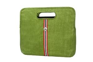 Crumpler CMR-M-004 Common Rice Laptoptasche M für 33cm (13 Zoll), Green Onion/Clear Red