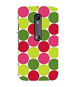 Colourful Dots Pattern 3D Hard Polycarbonate Designer Back Case Cover for Moto G Turbo Edition :: Moto G Turbo (Virat Kohli Edition)