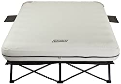 Coleman Queen Air Bed Cot with Side Tables and 4D Battery Pump