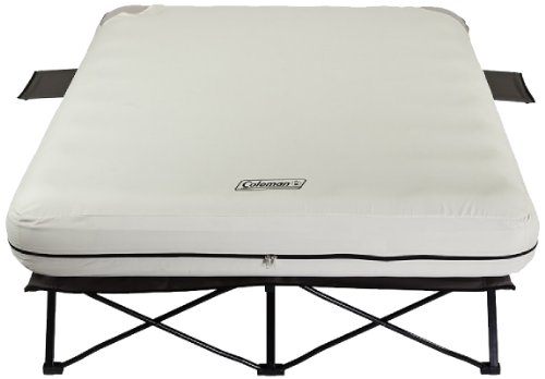 Coleman Queen Airbed Cot with Side Tables and 4D Battery Pump (Frame Air Mattress compare prices)