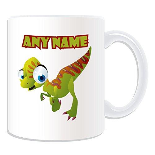 Cadeau-personnalis-Velociraptor-Mug-Dinosaure-Blanc-Message-nom-sur-le-Mug-Unique-Raptors