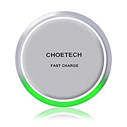 Fast Wireless Charger - CHOE Circle QI Fast Charge Wireless Charger Charging Pad (with Smart Lighting Sensor)for Samsung Galaxy Note 5, S6 Edge+ and All Qi-Enabled Devices
