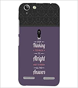 PrintDhaba Quote D-3717 Back Case Cover for LENOVO VIBE K5 PLUS (Multi-Coloured)
