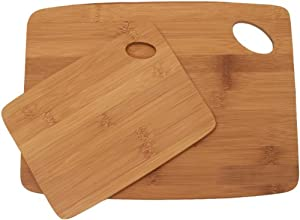 Lipper International 859 Bamboo Thin Cutting Board Set, 6 by 8-Inch and 9 by 12-Inch Boards