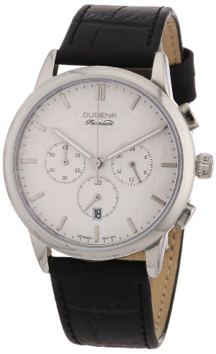 Dugena Dugena Premium 7000090 - Reloj para hombres, correa de cuero color negro