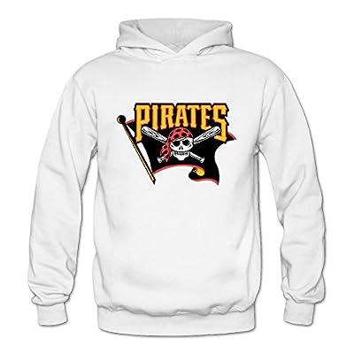 Women's Pittsburgh Pirates MLB Skateboard Hoodies Sweatshirt Size US White