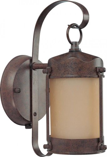 Nuvo Lighting 60/3945 One Light Piper Wall Lantern with Champagne Glass and Photocell, Old Bronze