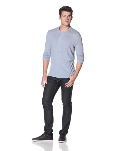 Edun Men's Long Sleeve Henley  [Poplin]