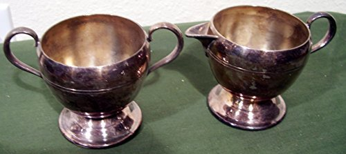 WM Rogers 1052 Silverplate Cream & Sugar
