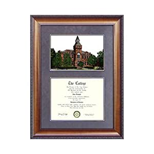 Michigan State University: Alumni Chapel Suede Mat Diploma Frame with Lithograph by Landmark Publishing
