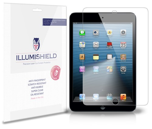 Illumishield - Apple Ipad Mini Screen Protector Japanese Ultra Clear Hd Film With Anti-Bubble And Anti-Fingerprint - High Quality (Invisible) Lcd Shield - Lifetime Replacement Warranty - [3-Pack] Oem / Retail Packaging