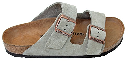 Details for Birkenstock Arizona 2-Strap Suede Leather Sandals, Taupe (Light Sandy Beige Yellowish-Brown Color), Unisex, 42 N EU Narrow Width (US Women 11-11.5 or US Men 9-9.5)