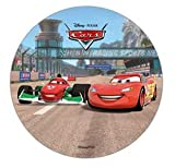 DISNEY PIXAR CARS CAKE TOPPER 21 CM EDIBLE WAFER / RICE III. PAPER CUP CAKE DECORATION TOPPERS BIRTHDAY PARTY KIDS WEDDING