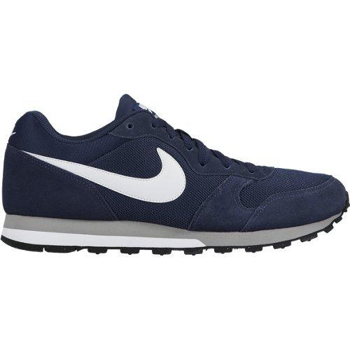 Nike MD Runner 2 Scarpe da Ginnastica Basse Uomo, Blu (Midnight Navy/White-Wolf Grey), 43 EU