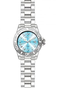 Invicta Women's 14361 Angel Quartz 3 Hand Light Blue Dial Watch