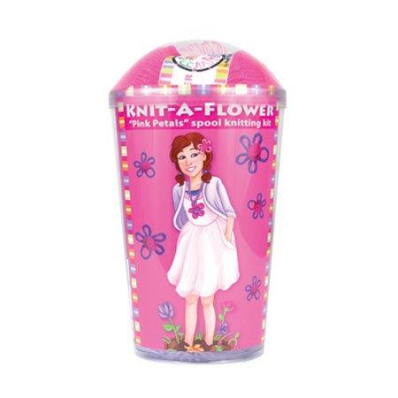 Knit-A-Flower Kit - Pink Petals - 1