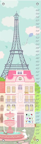 "Oopsy Daisy Growth Chart, Parisian Afternoon, 12"" x 42"""