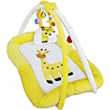 Baby Playgym Cum Play Mat Cream And Lemon 0-6 Months