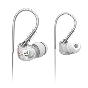 MEE audio Sport-Fi M6 Noise Isolating In-Ear Headphones with Memory Wire (Clear)