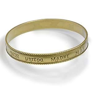 amazoncom mother word bangle bracelet french spanish