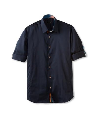 Jared Lang Men's Long Sleeve Solid Shirt  [Navy]