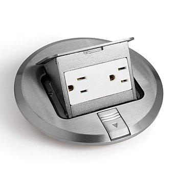 "Orbit Electric Complete 6"" Stainless Steel Pop Up Floor Box W/ Rec"