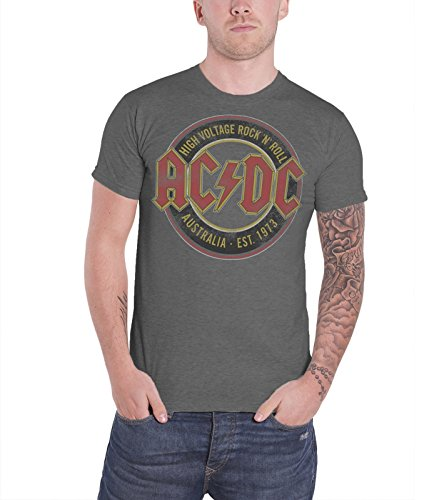 AC/DC - Top - Maniche corte - Uomo grigio Large