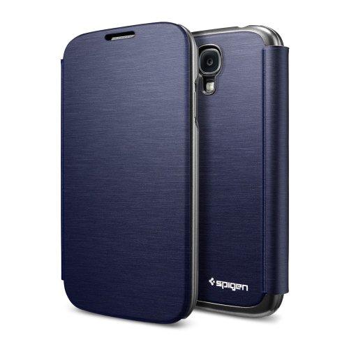 国内正規品 Galaxy S4 ケース、フリップカバー以上のフリップカバー SPIGEN SGP ウルトラ・フリップ(メタリック・ネイビー)