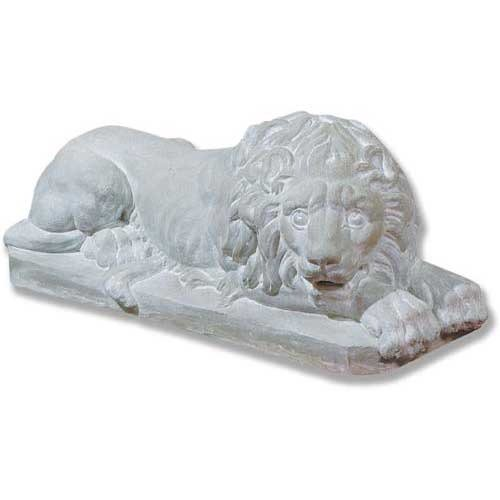 XoticBrands OSFS68865 Awakened Lion 31 W Garden Animal Outdoor Statues
