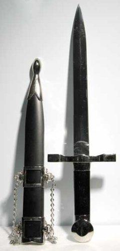 Black Handled Medieval Athame - Renaissance Ritual Tool