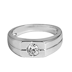 14K Exquisite White Gold Ring with diamonds (NEW ARRIVAL)