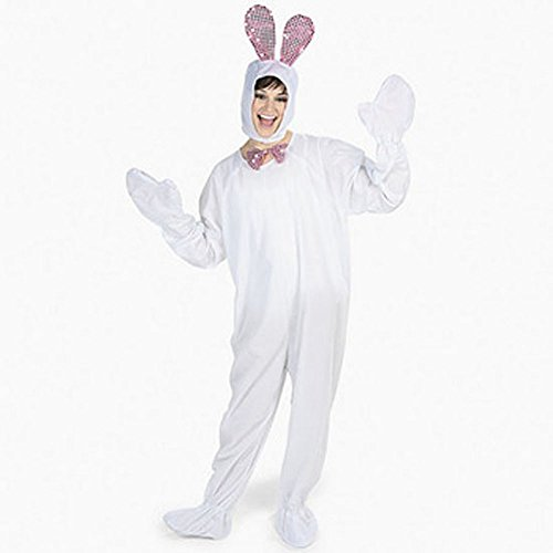 Adult Easter Bunny Costume White Rabbit Suit Ears