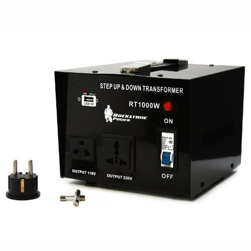 Rockstone Power Step Up/Down Voltage Transformer with 5V USB Port, 1000 Watt (1000 Watt Transformer compare prices)