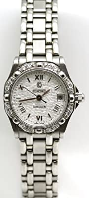 Concord Saratoga all Stainless-Steel Diamond Bezel Mozaic Dial Mini Women's