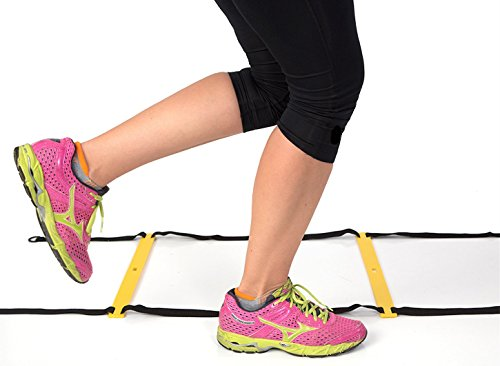 Agility Ladder with Carrying Bag. Adjustable 8 Flat Rung and 15 Feet in Length