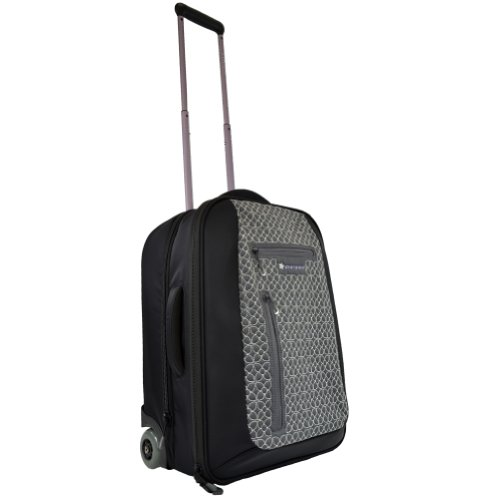 Sherpani Voyager LE Wheeled Suitcase (Pewter/Black, 7-Inch x 5.5-Inch x 1.5-Inch)