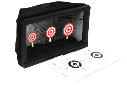 TSD Sports Airsoft Target Practice System w/ Built-In Auto Reset and BB Trap Net