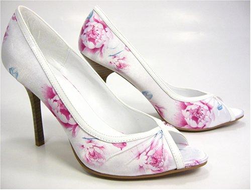 White Satin Wedding Shoes 7