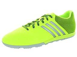 adidas Performance Men\'s Ace 15.2 CG Soccer Shoe, Solar Yellow/Silver Metallic/Clear Grey S12, 8 M US