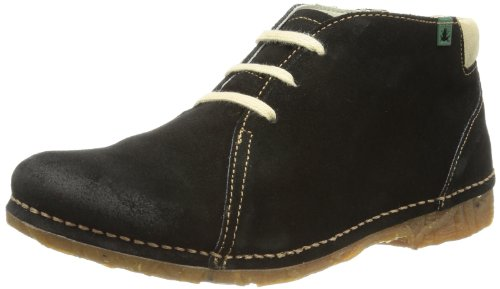 El Naturalista Womens Desert Boots N989 Black 8 UK, 41 EU